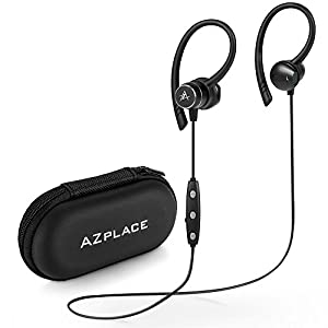 Magnetic Wireless Earbuds Sports Bluetooth Headphones Superior Earphones with Microphone IPX5 Waterproof Sweatproof for Gym Running Noise Cancelling earbuds(aptX HD Stereo, 8 Hours Playtime ) (black)
