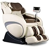 Therapeutic Massage Chair Recliner - High Tech Shiatsu Massager with Body Scan Therapy & Zero Gravity Technology - CREAM