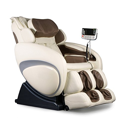 Therapeutic Massage Chair Recliner - High Tech Shiatsu Massager with Body Scan Therapy & Zero Gravity Technology - CREAM (Recliner Anti Gravity Shiatsu)