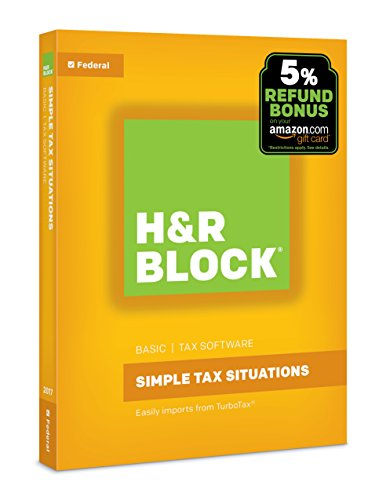 H R Block Tax Software Basic 2017 With 5  Refund Bonus Offer