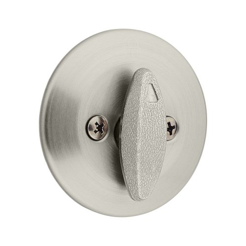 Kwikset 663 Single-Sided Deadbolt in Satin Nickel (Door Series Garage Double)