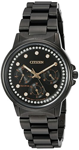 Citizen Women's 'Silhouette' Quartz Stainless Steel Casual Watch, Color:Black (Model: FD2047-58E)