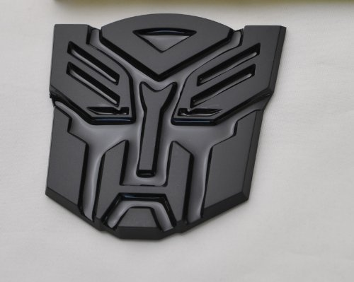Transformers Autobot Car Black Badge Emblem 3D Logo Small - Autobot Car Badge
