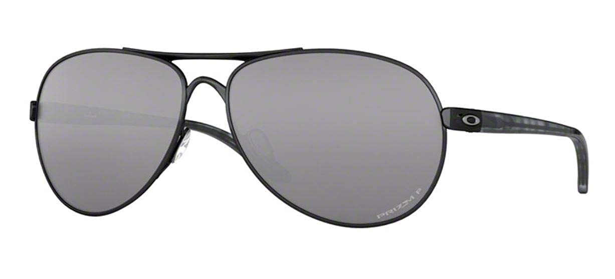 bbc0658cec4b Amazon.com: Oakley Women's Metal Woman Sunglass Polarized Aviator, Polished  Black, 59 mm: Clothing