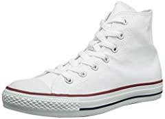 Tread in luxurious style with the Converse Chuck Taylor All Star Hi.It has Canvas upper,and durable rubber sole for perfect grip and comfort.Whether scribbled or sketched on,roughed up and scuffed from countless concerts and everyday sneaker ...