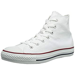 Converse Chuck Taylor All Star High Top Sneaker, Optical White, 5.5 Women/3.5 Men