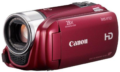 Canon デジタルビデオカメラ iVIS HF R21 レッド IVISHFR21RD 光学20倍 手ブレ補正 内蔵メモリー32GBの商品画像
