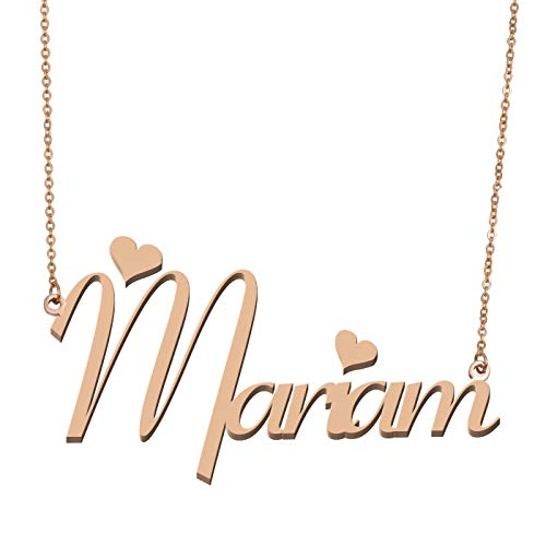 835ad13b7 Aoloshow Customized Custom Name Necklace Personalized - Custom Made Mariam Necklace  Initial Monogrammed Gift for Womens
