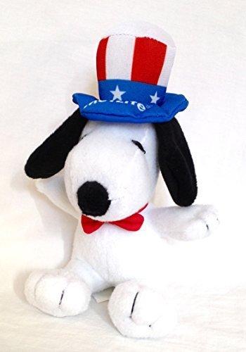 Metlife Snoopy Uncle Sam 6  Plush Dog By Metlife