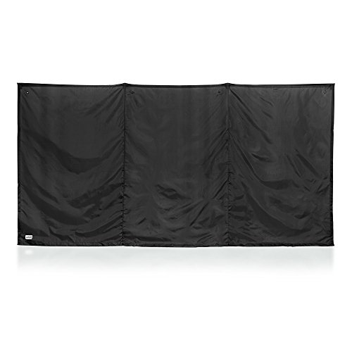WallUp! The Instant Outdoor Privacy Screen,6-feet High by 12-feet Wide, Black