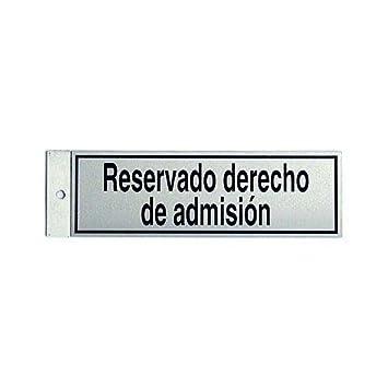 Rotulauto - Silueta Aluminio Reservado Adm. 019: Amazon.es ...