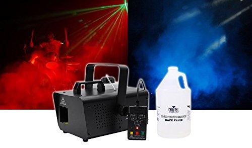 Package: Chauvet DJ Hurricane Haze 1D DMX Water-Based Hazer With Remote + Chauvet DJ HFG High Performance Haze Juice Fluid (Haze Machine)