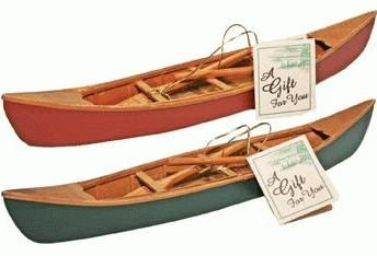 Hand Crafted Wooden Canoe With Paddles Miniature Replica 1 Pc 11