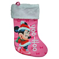 """Disney Minnie Mouse 18"""" Jersey Fully Printed Stockings"""