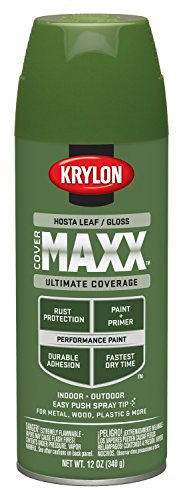 Krylon K09123000 COVERMAXX Spray Paint, Gloss Hosta Leaf, 12 (Hosta Leaf)