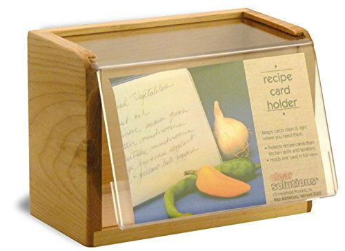 - Maple Recipe Box - Holds 4x6 Inch Cards - Made in the USA by Clear Solutions