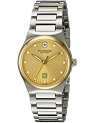 Victorinox Womens Victoria Swiss Quartz Stainless Steel Casual Watch (Model: 241637)