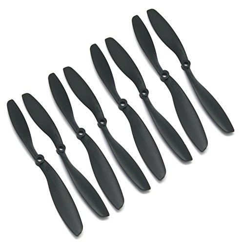 RAYCorp 8045 8x4.5 Propellers. 8 Pieces(4 CW, 4 CCW) 8-inch Quadcopter and F450 Props by RAYCorp by RAYCorp