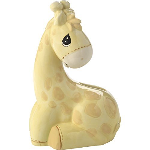 Precious Moments My My Precious One Ceramic Giraffe Piggy Bank, Yellow