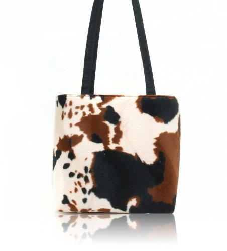 US HANDMADE FASHION ANIMAL PRINT COW Pattern Shoulder Bag Style Handbag Purse , BB 3021