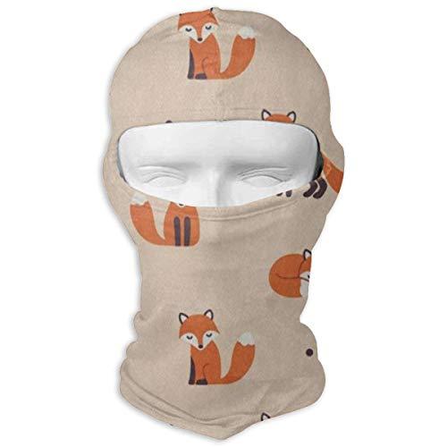 IDO Cute Polka Dot Cartoon Foxes Full Face Masks UV Balaclava Hood Ski Mask Motorcycle Neck Warmer Tactical Hood for Cycling Outdoor Sports Hiking (Batman Contact Lenses For Eyes)
