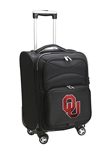 Denco NCAA Oklahoma Sooners Domestic Carry-On Spinner, 20-Inch, Black from Denco