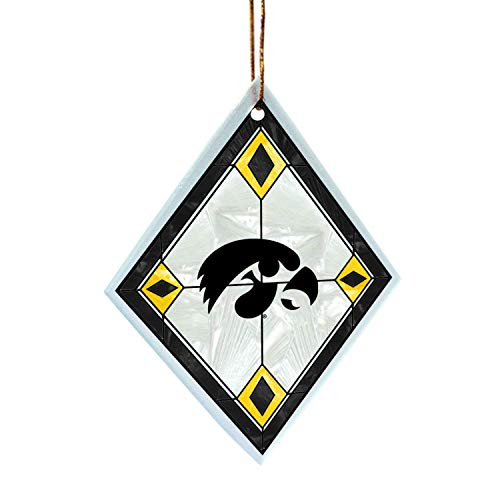 NCAA Iowa Hawkeyes Art Glass Ornament ()
