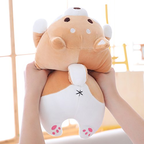 Shiba Inu Dog Plush Pillow, Cute Corgi Akita Stuffed Animals Doll Toy Gifts for Valentine's Gift, Christmas,Sofa Chair, Brown Round Eye, 15'' by Levenkeness (Image #5)