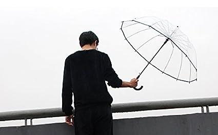Paraguas Transparente Paraguas Largo Pequeño Hombre Fresco Y Estudiantes Femeninos Paraguas Creativo