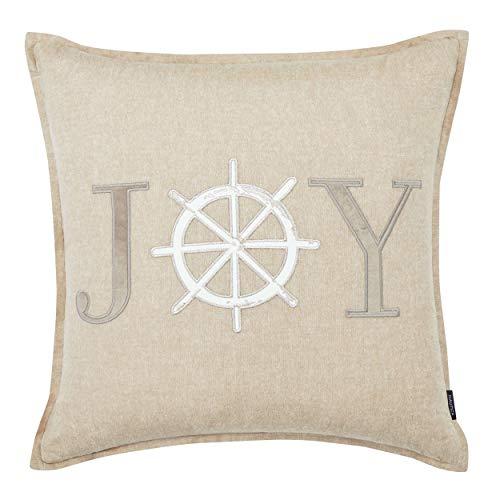 Nautica Joy Applique Throw Pillow, 20x20, Brown