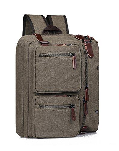 Tecool Shoulder canvas Laptop Inch For Convertible Messenger Grey Bag women 6 Men Briefcase 15 Backpack Business 8691gy UrHUxT4
