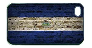 Nicaragua Flag Brick Wall iPhone 5 Black Case - Fits iPhone 5