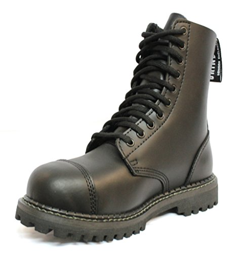 Grinders Stag CS Black Mens Unisex Safety Steel Toe Cap Military Punk Boots LMpM7yW