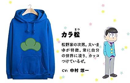 Se puede elegir el tama/ño correcto seg/ún la carta del tama/ño en la /ía Sunkee Japon/és Manga SIX SAME FACES Konya wa Saikou Mr.Osomatsu San ED animado colorido del caramelo de la chaqueta con capucha del su/éter X