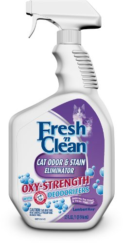Lambert Kay Fresh 'N Clean Oxy-Strength Cat Odor and Stain Eliminator with Trigger Sprayer, 32-Ounce, My Pet Supplies