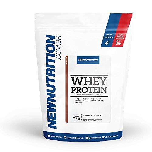 Whey Protein 900g Morango NewNutrition