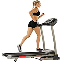 Sunny Health & Fitness SF-T7705 Portable Treadmill with Auto Incline LCD, Smart APP and Shock Absorber