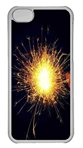 Customized iphone 5C PC Transparent Case - Fireworks 7 Personalized Cover