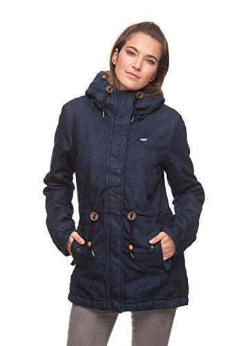 Ragwear Jacke Damen MONADIS Denim 1821-60021 Dunkelblau Indigo 2050