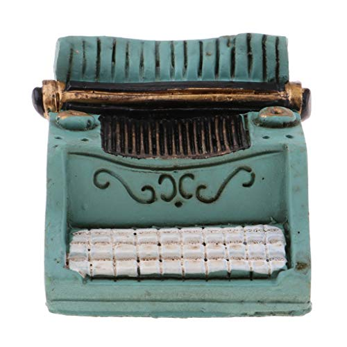 intage Dollhouse Miniature Accessory Typewriter Non-Working Toy Gift Green ()