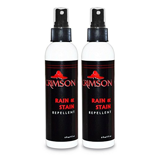 Crimson Rain & Stain Repellent Spray, 6oz. (2-Pack) - Leather, Suede, Nubuck, and Fabric Shoe Protector