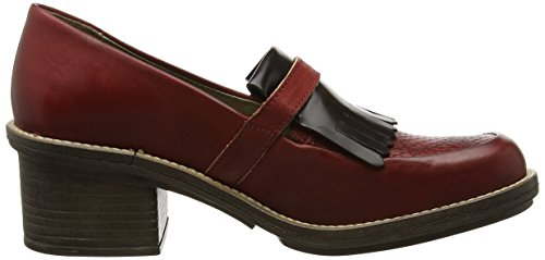 Tacón London Rojo Red Brown para 003 Chad878fly FLYA4 Zapatos Fly Mujer de wXTAwxSq