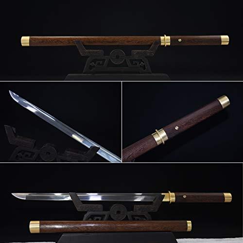 - Yongli Sword Handmade Short Katana Japanese wakizashi Tanto Samurai Sword Sharp Blade Folded Steel