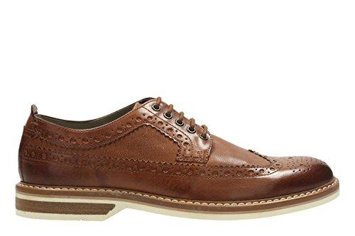 Clarks Pitney Limit, Zapatos de Cordones Oxford para Hombre Marrón