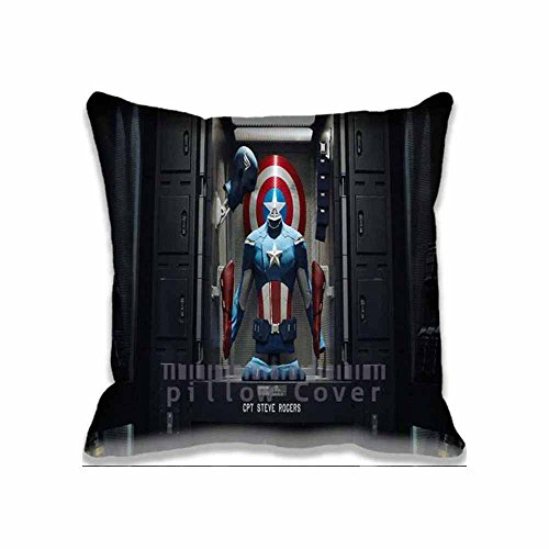 New Captain America Costume (Costume Captain America Movies Fashion Zippered Throw Pillow Covers - Movie Sofa Pillow , Decorative Cotton Pillowcases)