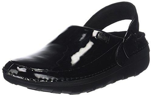 FitFlop Women's Gogh Pro Superlight Medical Professional Shoe, Black Patent, 7 M US
