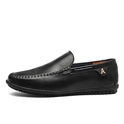 Hommes Black Taille Chaussures Grande pour Hommes Chaussures Paresseux Une Chaussures Conduite pour Occasionnels Pédale Chaussures Chaussures Hommes Pois AIMENGA Occasionnels nRXTHSR