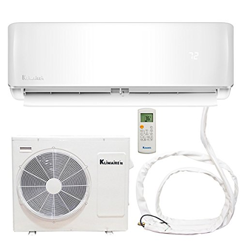 Klimaire DIY 36,000 BTU 16 SEER Ductless Mini-Split Air Conditioner Heat Pump System with 25 ft. Quick Connect Installation Kit (230V)