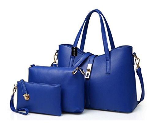 Alidear New Brand and 2017 New Women Top Handle Satchel Handbags Tote Purse Blue