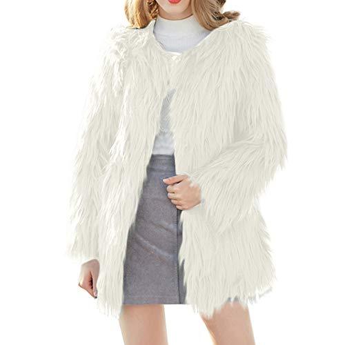 BETTERUU UFACE Women Fluffy Coat Winter Warm Faux Fur Cardigan Long Sleeve Outerwear Tops